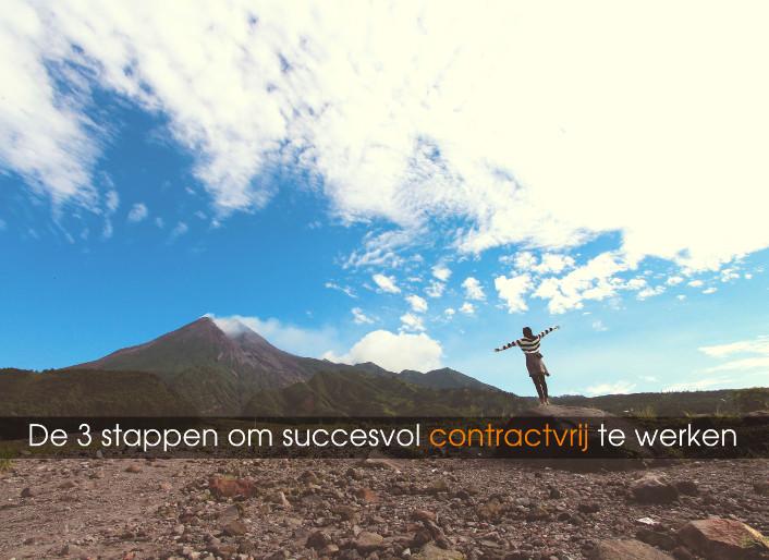 De 3 stappen omsuccesvol contractvrij te werken